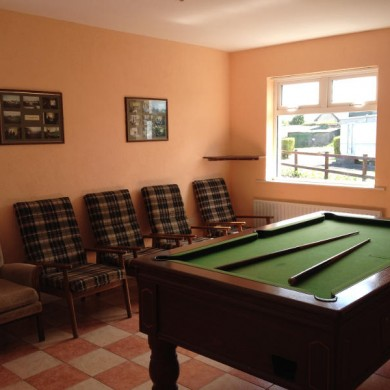 Streamstown Caravan & Camping Park games room